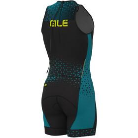 Alé Cycling Rush Olympic Tri Strój triathlonowy bez rękawów Short Mężczyźni, black-ottanio